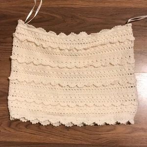 Beige Forever 21 crop top size S